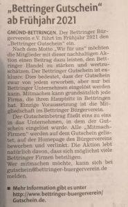 Remszeitung Bettringer Gutschein